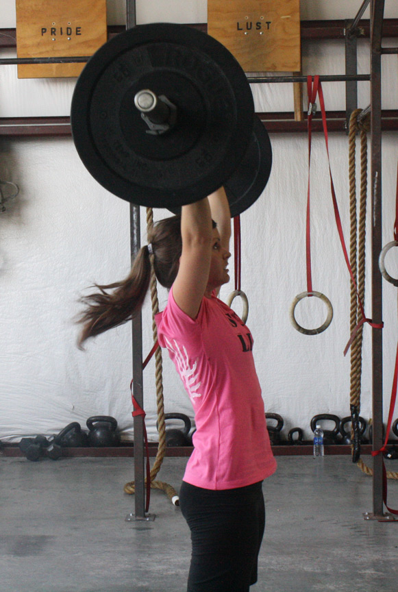 Me doing thrusters